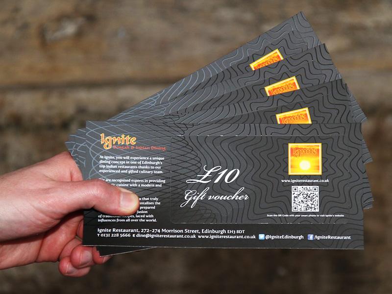 gift vouchers Edinburgh