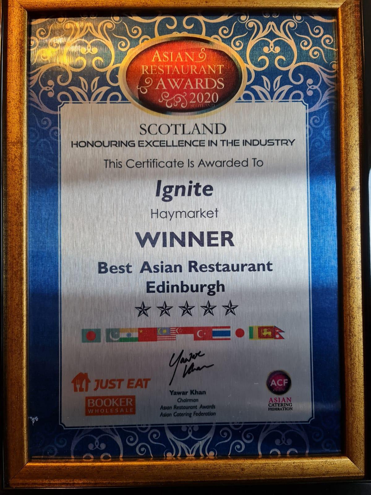 Best Asian Restaurant Edinburgh